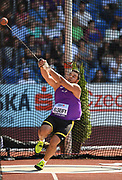 Ashraf Amgad El Seify (QAT) places fifth in the hammer throw at 243-0 (74.08m) during the IAAF Continental Cup 2018 at Mestky Stadion in Ostrava, Czech Republic, Sunday, Sept. 9, 2018. (Jiro Mochizuki/Image of Sport)
