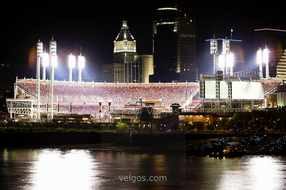 Great American Ball Park at night in Cincinnati Ohio