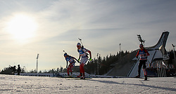 11.03.2016, Holmenkollen, Oslo, NOR, IBU Weltmeisterschaft Biathlon, Oslo, 4x6 Km Staffel, Damen, im Bild Magdalena Gwizdon (POL) // during 4x6 km women relay of the IBU World Championships, Oslo 2016 at the Holmenkollen in Oslo, Norway on 2016/03/11. EXPA Pictures © 2016, PhotoCredit: EXPA/ Newspix/ Tomasz Jastrzebowski<br /> <br /> *****ATTENTION - for AUT, SLO, CRO, SRB, BIH, MAZ, TUR, SUI, SWE only*****