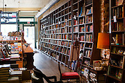 Interior of Off the Square Books, Oxford Mississippi.