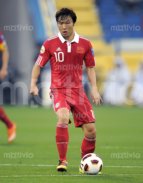 Fussball AFC Asian Cup 2011    08.01.2011 Kuwait - China Zhuoxiang Deng (China)