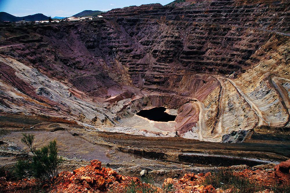 Open pit Copper mine in Montana.