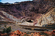 Open pit Copper mine in Montana.
