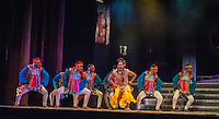 Early scene from Merchants of Bollywood at the Peacock Theatre London. Carole Edrich 2014