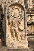 Sri Lanka. Gurad stone at entrance to he Vatadage temple,  a circular relic house or shrine, at Polonnaruwa.