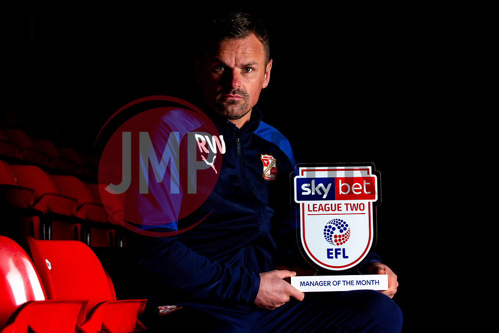 Richie Wellens of Swindon Town wins the Sky Bet League Two Manager of the Month award - Mandatory by-line: Robbie Stephenson/JMP - 10/12/2019 - FOOTBALL - County Ground - Swindon, England - Sky Bet Manager of the Month Award