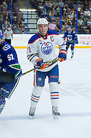 PENTICTON, CANADA - SEPTEMBER 16: Kyle Platzer #71 of Edmonton Oilers skates against the Vancouver Canucks on September 16, 2016 at the South Okanagan Event Centre in Penticton, British Columbia, Canada.  (Photo by Marissa Baecker/Shoot the Breeze)  *** Local Caption *** Kyle Platzer;