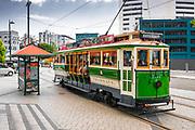 City tour trolly, Christchurch, Canterbury, South Island, New Zealand