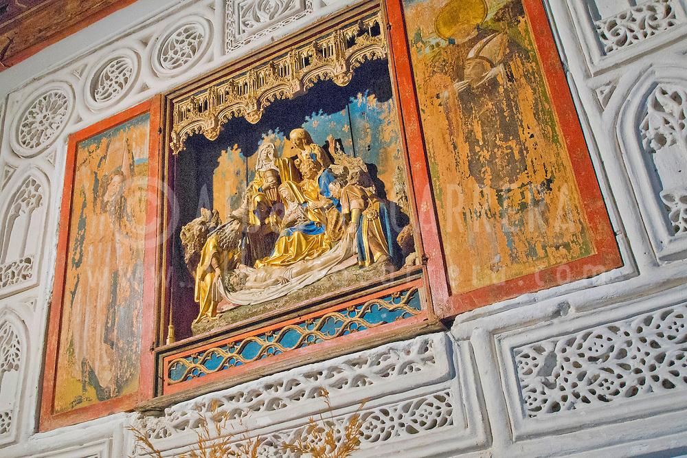 Alberto Carrera, Flemish Altarpiece, Monastery of San Antonio el Real, Segovia, Castilla y Le&oacute;n, Spain, Europe.<br /> <br /> EDITORIAL USE ONLY