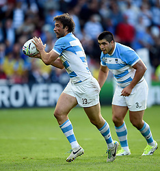 Marcelo Bosch of Argentina in possession - Mandatory byline: Patrick Khachfe/JMP - 07966 386802 - 25/09/2015 - RUGBY UNION - Kingsholm Stadium - Gloucester, England - Argentina v Georgia - Rugby World Cup 2015 Pool C.
