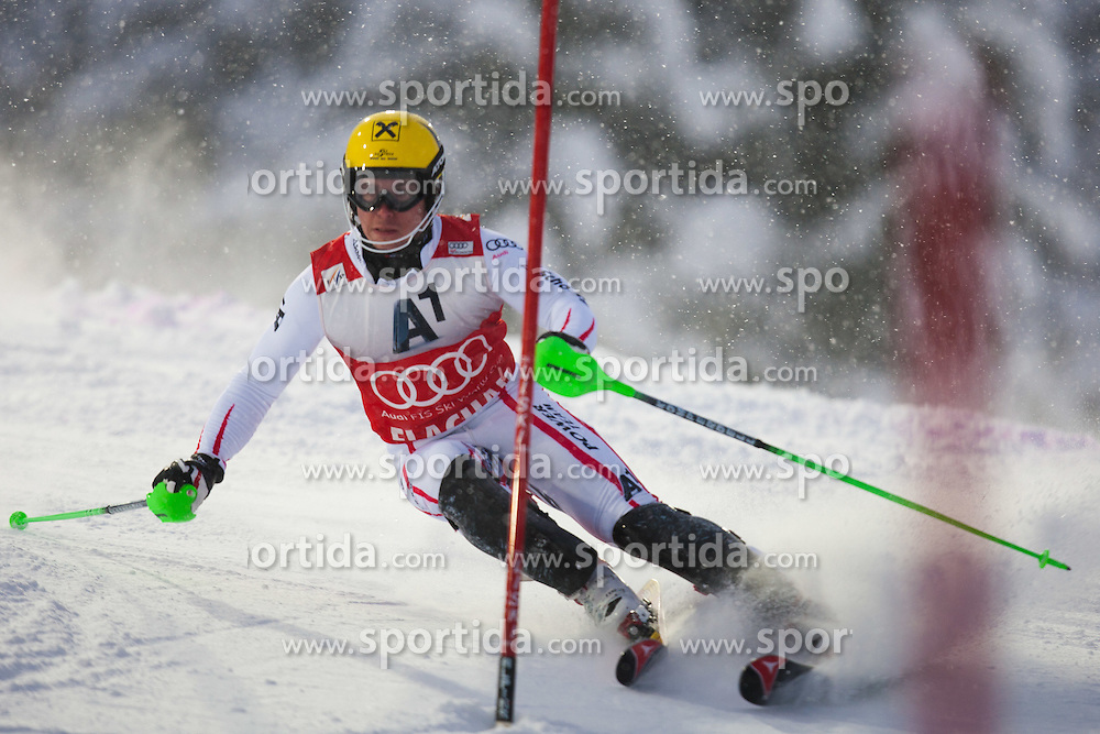 21.12.2011, Hermann Maier Weltcup Strecke, Flachau, AUT, FIS Weltcup Ski Alpin, Herren, Slalom 1. Durchgang, im Bild Marcel Hirscher (AUT) in Aktion // Marcel Hirscher of Austria in action during Slalom race 1st run of FIS Ski Alpine World Cup at 'Hermann Maier World Cup' course in Flachau, Austria on 2011/12/21. EXPA Pictures © 2011, PhotoCredit: EXPA/ Johann Groder