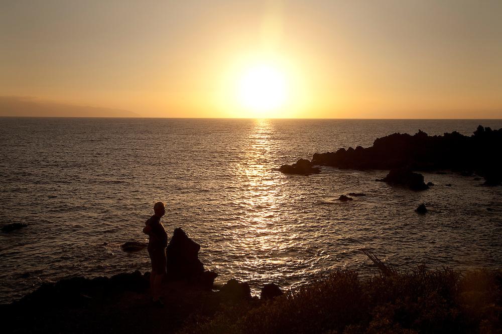 Sunset, Playa San Juan, South Tenerife.