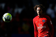 Paris Saint Germain's French midfielder Adrien Rabiot warms up before the French Championship Ligue 1 football match between Paris Saint-Germain and Girondins de Bordeaux on September 30, 2017 at the Parc des Princes stadium in Paris, France - Photo Benjamin Cremel / ProSportsImages / DPPI