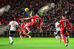 Milan Djuric of Bristol City attempts an overhead kick  - Mandatory by-line: Dougie Allward/JMP - 22/02/2017 - FOOTBALL - Ashton Gate - Bristol, England - Bristol City v Fulham - Sky Bet Championship