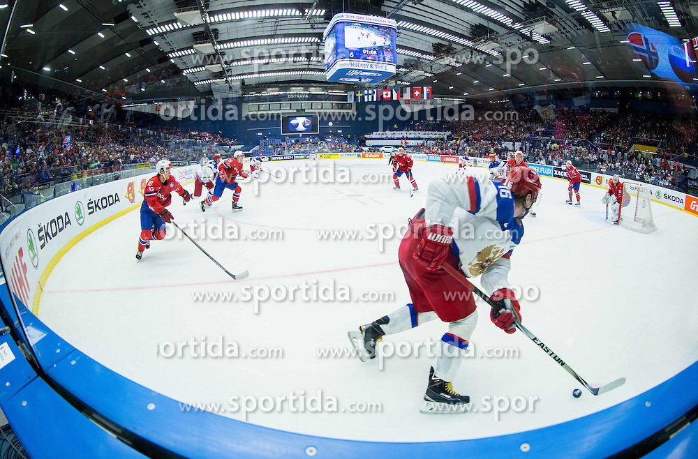 Sergei Plotnikov of Russia during Ice Hockey match between Russia and Norway at Day 1 in Group B of 2015 IIHF World Championship, on May 1, 2015 in CEZ Arena, Ostrava, Czech Republic. Photo by Vid Ponikvar / Sportida