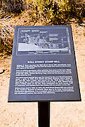 Interpretive sign at the Wall Street Stamp Mill, Joshua Tree National Park, California