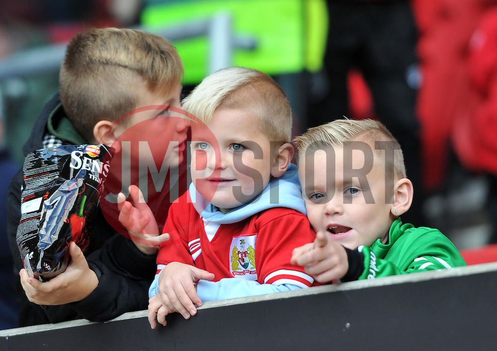 Young Bristol City supporters at Ashton Gate - Mandatory by-line: Paul Knight/JMP - 22/10/2016 - FOOTBALL - Ashton Gate Stadium - Bristol, England - Bristol City v Blackburn Rovers - Sky Bet Championship