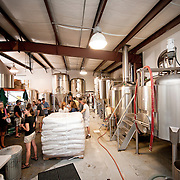group touring boneyard brewing facility