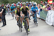 Jack Haig (AUS, Mitchelton - Scott) and Simon Yates (GBR, Mitchelton, Scott) during the 73th Edition of the 2018 Tour of Spain, Vuelta Espana 2018, Stage 13 cycling race, Candas Carreno - La Camperona 174,8 km on September 7, 2018 in Spain - Photo Luca Bettini / BettiniPhoto / ProSportsImages / DPPI