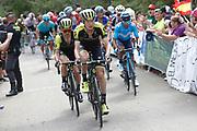 Jack Haig (AUS, Mitchelton - Scott) and Simon Yates (GBR, Mitchelton, Scott) during the 73th Edition of the 2018 Tour of Spain, Vuelta Espana 2018, Stage 13 cycling race, Candas Carreno - La Camperona 174,8 km on September 7, 2018 in Spain - Photo Luca Bettini / BettiniPhoto / ProSportsImages / DPPI
