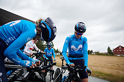 Alicia Gonzalez (ESP) at Ladies Tour of Norway 2018 Team Time Trial, a 24 km team time trial from Aremark to Halden, Norway on August 16, 2018. Photo by Sean Robinson/velofocus.com