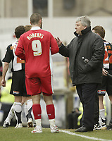 Photo: Aidan Ellis.<br /> Grimsby Town v Swindon Town. Coca Cola League 2. 17/03/2007.<br /> Paul Sturrock talks to Christian Roberts