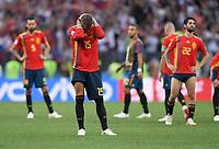 FUSSBALL  WM 2018  Achtelfinale ---- Spanien - Russland       01.07.2018  Sergio Ramos (Spanien) ist nach Spielende enttaeuscht