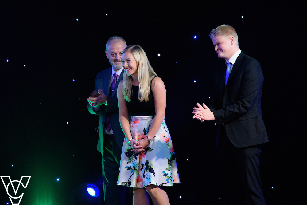 Lincolnshire Sport Awards 2016:<br /> <br /> Sports Volunteer of the Year sponsored by Branston.  Winner: Emma Shelbourn.  Runners-up: David Chher and Cliff Penning.<br /> <br /> The 2016 Lincolnshire Sport Awards, organised by Lincolnshire Sport, and held at the Showground, Lincoln.<br /> <br /> Picture: Chris Vaughan Photography for Lincolnshire Sport<br /> Date: November 3, 2016
