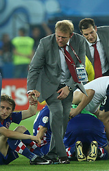 Luka Modric of Croatia, Robert Prosinecki, at the back coach Slaven Bilic dissapointed after the UEFA EURO 2008 Quarter-Final soccer match between Croatia and Turkey at Ernst-Happel Stadium, on June 20,2008, in Wien, Austria. Turkey won after penalty shots. (Photo by Vid Ponikvar / Sportal Images)