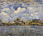 The Seine au point du jour' 1877:  Alfred Sisley (1839-1899) French painter.  Oil on canvas.