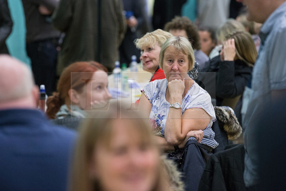 © Licensed to London News Pictures . 09/10/2014 . Heywood , UK . Ballots counters at the Heywood and Middleton by-election count which is taking place following the death of sitting MP Jim Dobbin . Photo credit : Joel Goodman/LNP
