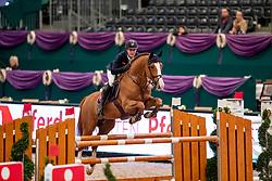 STÜHLMEYER Patrick (GER), For Laubry<br /> Leipzig - Partner Pferd 2019<br /> Equiline Youngster Cup<br /> 1. Qualifikation Youngster Tour für 7 und 8 jährige Pferde<br /> 17. Januar 2019<br /> © www.sportfotos-lafrentz.de/Stefan Lafrentz