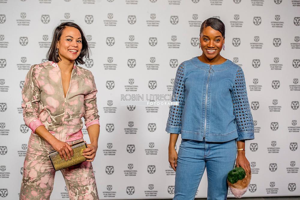 ROTTERDAM - filmfestival opening rode loper en opening van de film lemon YOOTHA WONG-LOILSING  Actrice   ROBIN UTRECHT