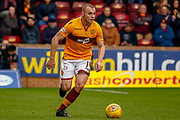 Liam Grimshaw of Motherwell during the Ladbrokes Scottish Premiership match between Motherwell and Heart of Midlothian at Fir Park, Motherwell, Scotland on 17 February 2019.