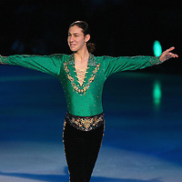 Olympic Bronze medalist Jason Brown performs on the ice during the Stars on Ice Figure Skating tour stop at the Amway Center on Sunday, April 6, 2014 in Orlando, Florida. (AP Photo/Alex Menendez)
