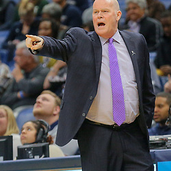Mar 13, 2018; New Orleans, LA, USA; Charlotte Hornets head coach Steve Clifford against the New Orleans Pelicans during the first quarter of a game at the Smoothie King Center. Mandatory Credit: Derick E. Hingle-USA TODAY Sports