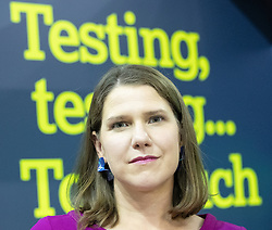 © Licensed to London News Pictures . 14/09/2019. Bournemouth, UK. Party leader JO SWINSON tours the exhibition at the conference . The first day of the Liberal Democrat Party Conference in Bournemouth . Photo credit: Joel Goodman/LNP
