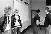 Skins and Punks in Wycombe Marsh Mob, 1980s.
