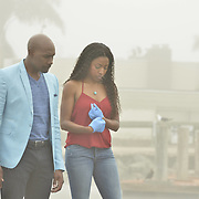 "ROSEWOOD: Pictured L-R: Morris Chestnut and Gabrielle Dennis in the ""Boatopsy & Booty"" episode of ROSEWOOD airing Thursday, Oct. 13 (8:00-8:59 PM ET/PT) on FOX. ©2016 Fox Broadcasting Co. CR: Lisa Rose/FOX"