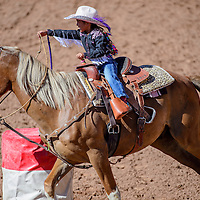 080515       Cable Hoover<br /> <br /> Barrel racer Delshay Henio makes her first turn during the IJRA rodeo Wednesday at Red Rock Park in Gallup.