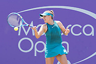 Sofia Kenin (USA) during the Mallorca Open at Country Club Santa Ponsa on June 22, 2018 in Mallorca, Spain. Photo Credit: Katja Boll/EVENTMEDIA.