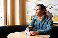 "3, November, 2008. New York, NY. Wine curator and co-owner Vincent Seufert, 44, is here in his restaurant ""10 Downing Food & Wine"", in the West Village.<br /> <br /> ©2008 Gianni Cipriano for The New York Times<br /> cell. +1 646 465 2168 (USA)<br /> cell. +1 328 567 7923 (Italy)<br /> gianni@giannicipriano.com<br /> www.giannicipriano.com"