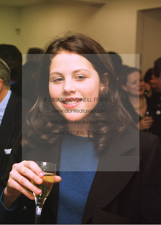 The HON.SOPHIA ALLSOPP daughter of Lord Hindlip, at a reception in London on 12th March 1998.MGA 30