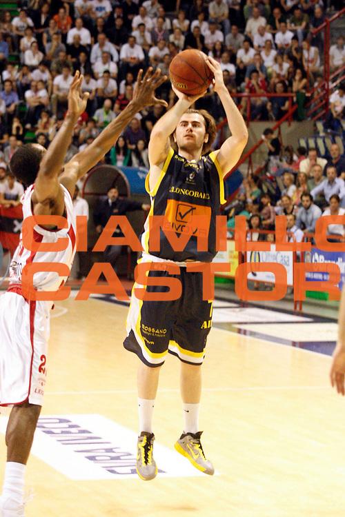 DESCRIZIONE : Pistoia Lega A2 2012-13 Playoff Quarti di finale Gara1 Giorgio Tesi Group Pistoia Givova Scafati<br /> GIOCATORE : Bushati Franko <br /> SQUADRA : Givova Scafati<br /> EVENTO : Campionato Lega A2 2012-2013<br /> GARA : Giorgio Tesi Group Pistoia Givova Scafati Playoff quarti di finale gara1<br /> DATA : 1105/2013<br /> CATEGORIA : Tiro<br /> SPORT : Pallacanestro<br /> AUTORE : Agenzia Ciamillo-Castoria/Stefano D'Errico<br /> Galleria : Lega Basket A2 2012-2013 <br /> Fotonotizia : Pistoia Lega A2 2012-2013 Playoff Quarti di finale Gara1 Giorgio Tesi Group Pistoia Givova Scafati<br /> Predefinita :