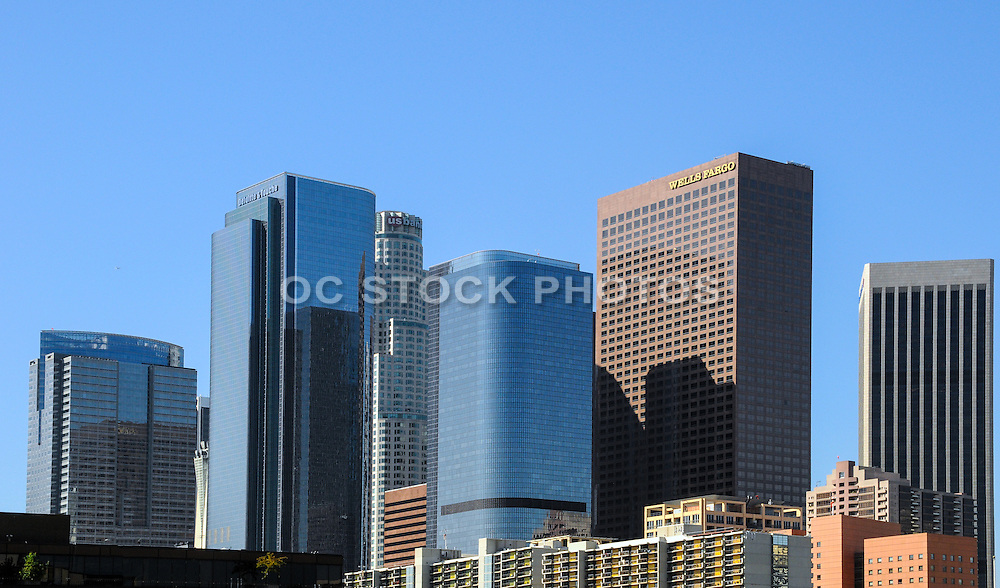 Skyscraper Buildings in Downtown Los Angels California
