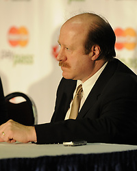 Moncton Wildcats GM Danny Flynn at the 2010 MasterCard Memorial Cup in Brandon, MB. Photo by Aaron Bell/CHL Images