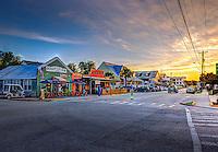 Sullivan's Island Middle Street restaurant row sunset.