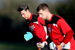 Fabian Giefer of Bristol City takes part in his first training session, alongside new teammate Frank Fielding of Bristol City, since signing - Mandatory by-line: Robbie Stephenson/JMP - 19/01/2017 - FOOTBALL - Bristol City Training Ground - Bristol, England - Bristol City Training