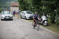 Barbara Guarischi (ITA) of CANYON//SRAM Racing rides up on the day's main climb during the Giro Rosa 2016 - Stage 1. A 104 km road race from Gaiarine to San Fior, Italy on July 2nd 2016.