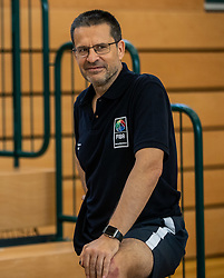 Pedro Martínez, Spanish professional basketball coach teaching younger basketball coaches at FECC - FIBA Europe Coaching Certificate, on July 17, 2018 in Chemnitz, Germany. Photo by Vid Ponikvar / Sportida